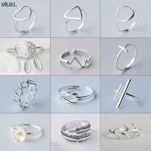 Anillos geométricos Vintage de moda para mujer, sortijas simples de boda, latido del corazón triangular, anillo de dedo de flor, accesorios 2021