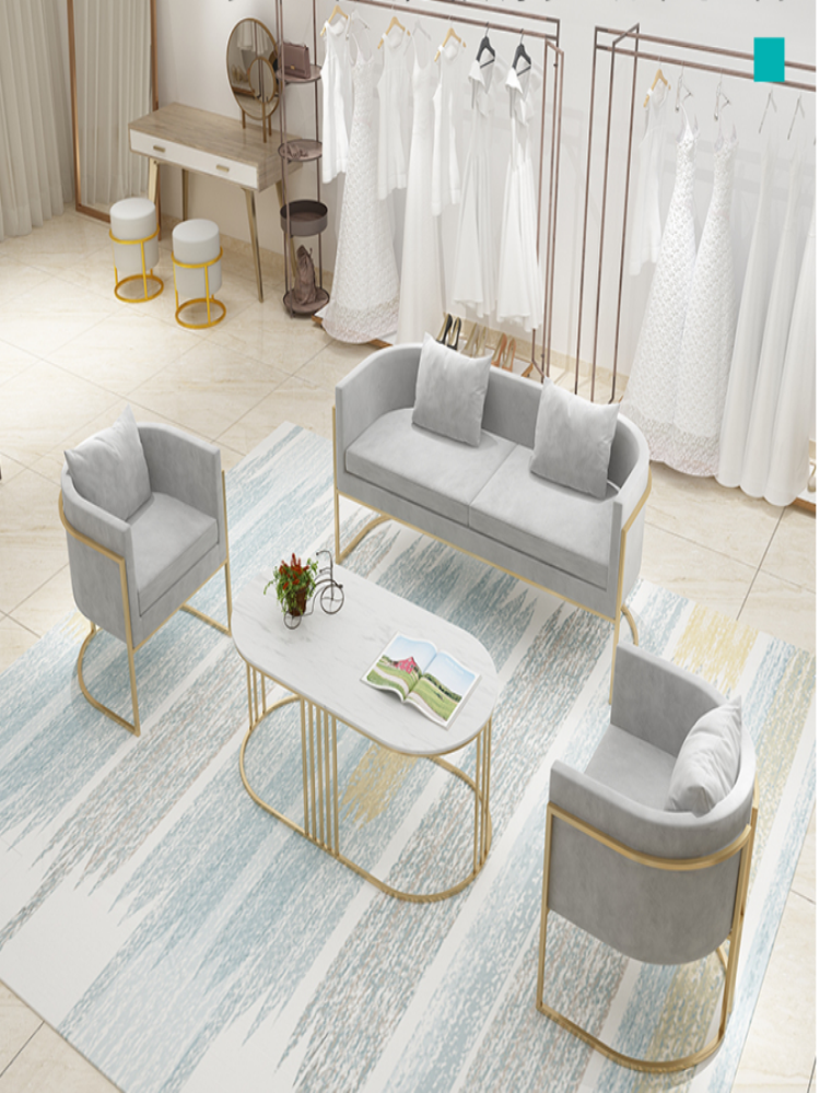 Nordic Wedding Sofa Beauty Parlor Simple Modern Clothing Store Reception To Discuss Small Sofa Net Red Shop