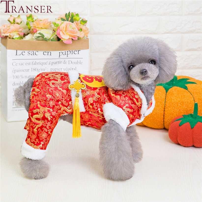 Transfer Çince Düğüm Tangsuit Kış sıcak Köpek Giysileri Kalın Pet Köpek Tulumlar Tulum Eşofman Yavrusu Köpek Kostüm Damla Gemi 908