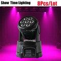 8 adet/grup Mini Dj Led hareketli kafa ışık 7 adet RGBW led sahne etkisi kullanımı DJ Bar club disko ışığı ev eğlendirmek yıkama arka plan