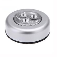 3 светодиодный портативный бесступенчатый затемнение пат ночник свет белый аварийный сенсорный ночь лампа белый AAA батарея питание лампа для кухня шкаф