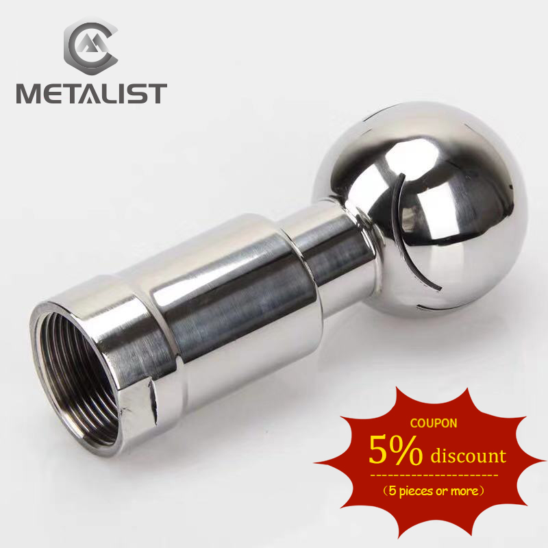 METALIST 3/4'' DN20 Female Thread SS304 Sanitary CIP Tank Cleaning Rotating Spray Ball