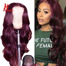 Волосы Омбре red body wave 4x4 парик из человеческих волос на