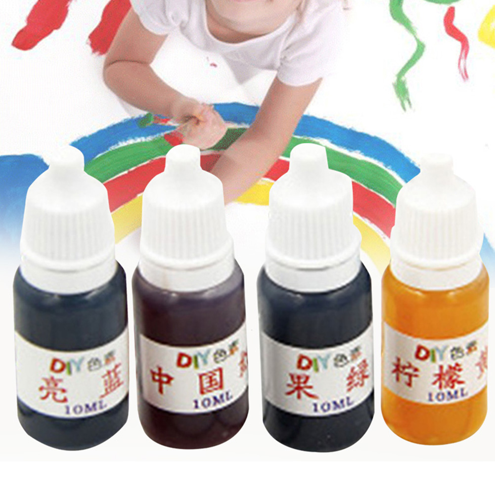 4pcs DIY Bath Bombs UV Ultraviolet Epoxy Resin Soap Art Handwork Mix Colors Liquid Pigment Curing Dye Painting Jewelry Making