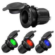 12V Sigarettenaansteker Waterdichte Auto Boot Motorfiets Tractor Stopcontact Socket Bakje Auto Accessoires Zwart