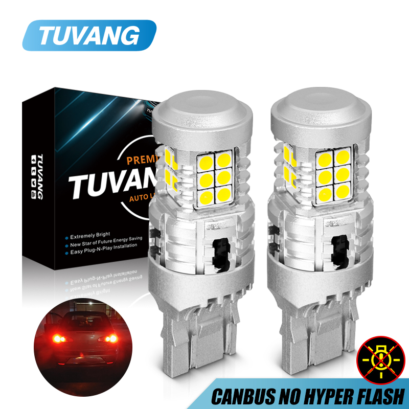 2x 1157 P21/5W BAY15D LED <font><b>Auto</b></font> Brake Lights 3030 Chip <font><b>20</b></font> SMD 7443 W21/5W Car Daytime Running Light Stop Tail <font><b>Bulbs</b></font> 12V Red White image