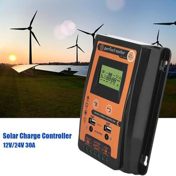 MPPT Solar Controller 30A 50A 70A 12V 24V Solar Charge Controller Solar Panel Battery Regulator Controller Dual USB LCD Display