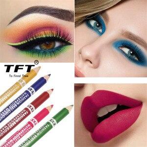 Image 5 - 1PC wodoodporna podwójna głowica wodoodporna ciecz znaczek Eyeliner Pen tatuaż tłoczenia Eyeliner ołówek narzędzia do makijażu