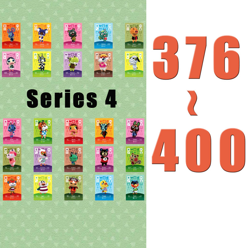 (376 To 400) Animal Crossing Card Amiibo Printed NFC Card Compatible Pick From The List