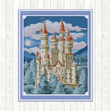 Joy Sunday Cross-stitch Set Scenery Painting Printed on Canvas for Embroidery Kit 14ct 11ct Counted Cross Stitch Needlework