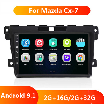 9'' 2 din Android 9.1 Auto Radio Car Multimedia For Mazda Cx-7 cx7 cx 7 2008-2015 GPS Navigation Stereo Audio Player bose system image