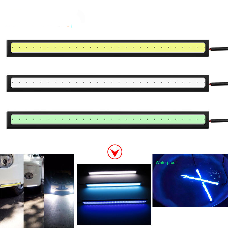 Universal Waterproof Daytime Running Lights COB Fog Lamp Car Styling Led Day Light DRL Lamp For BMW Toyota Honda Nissan Kia Audi