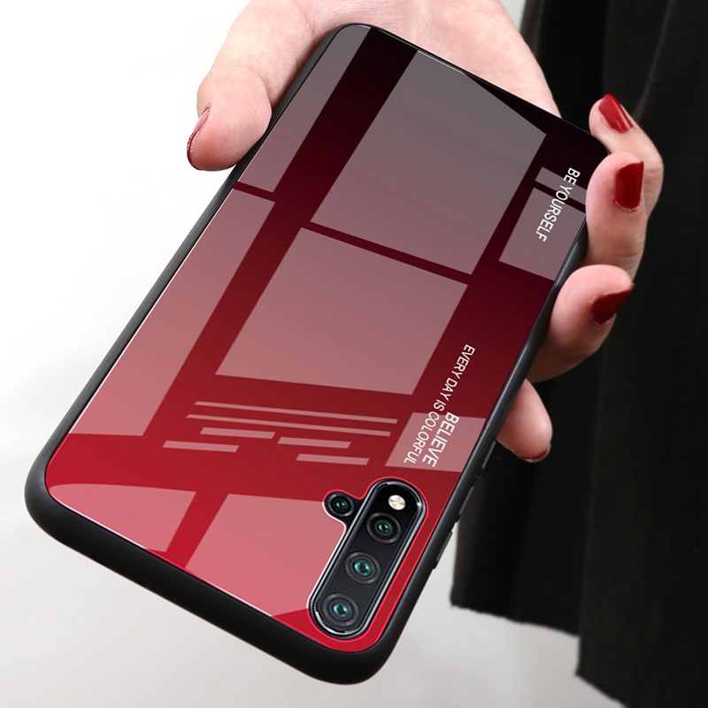 Funda de vidrio degradado para Huawei Nova 2i 3 3i 4 5T 5 5i Pro Coque cubierta templada funda de teléfono para Huawei Honor 10i 20i V20 V30 Pro Nuevo Carcasa Trasera de cubierta de batería para Huawei Nova 2i G10/G10 Plus, funda de puerta trasera RNE L21 para Huawei Mate 10 Lite