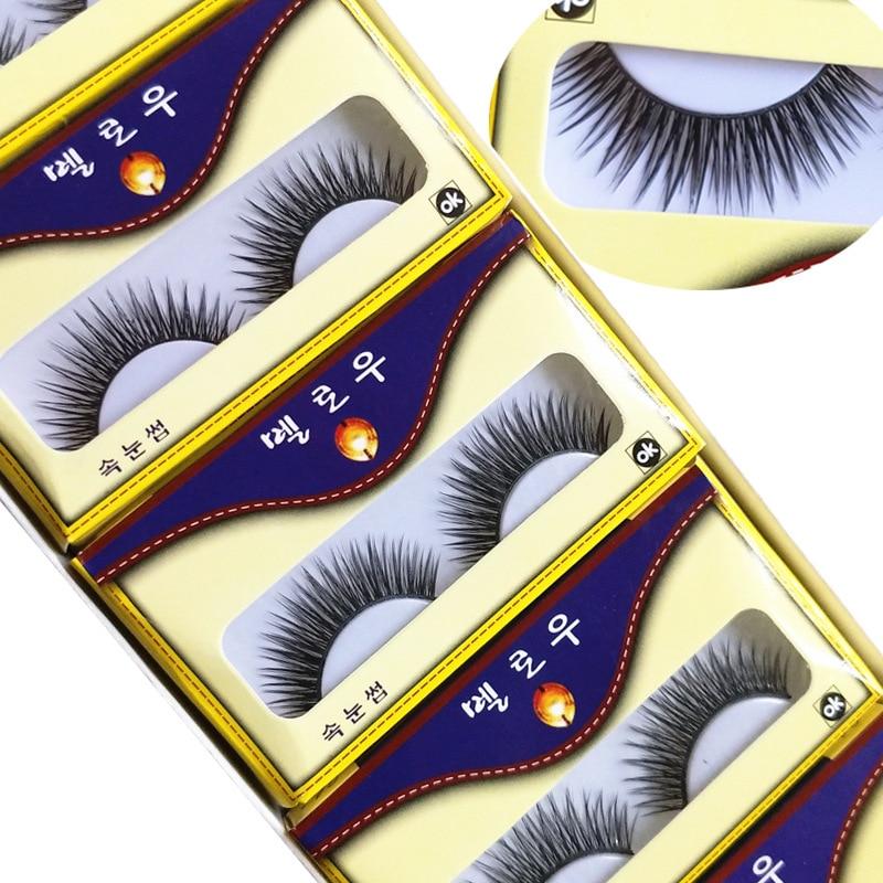 Korea 3D Mink Lashes False Eyelashes Dramatic Volume 4D Fake Lashes Makeup Eyelash Extension Silk Eyelashes Eyelash Extension