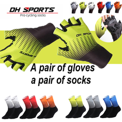 Professional 1Pair Half /Full Finger Cycling Gloves With 1Pair Cycling Socks Breathable Anti-shock MTB Bike Bicycle Sports Glove