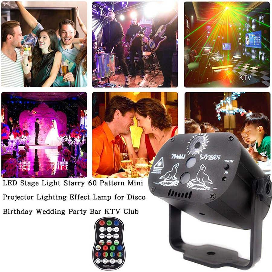 DJ освещение для диско вечеринки сценический световой эффект USB зарядка лазерный проектор для дома свадьба день рождения танцы вечерние украшения