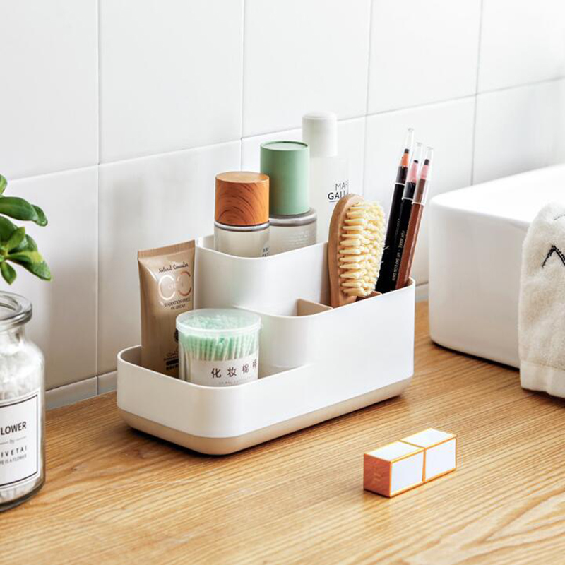 Multifunctional Cosmetic Storage Box Bathroom Organizer Cosmetic Storage Rack Office Supplies Storage Box Sundries Container
