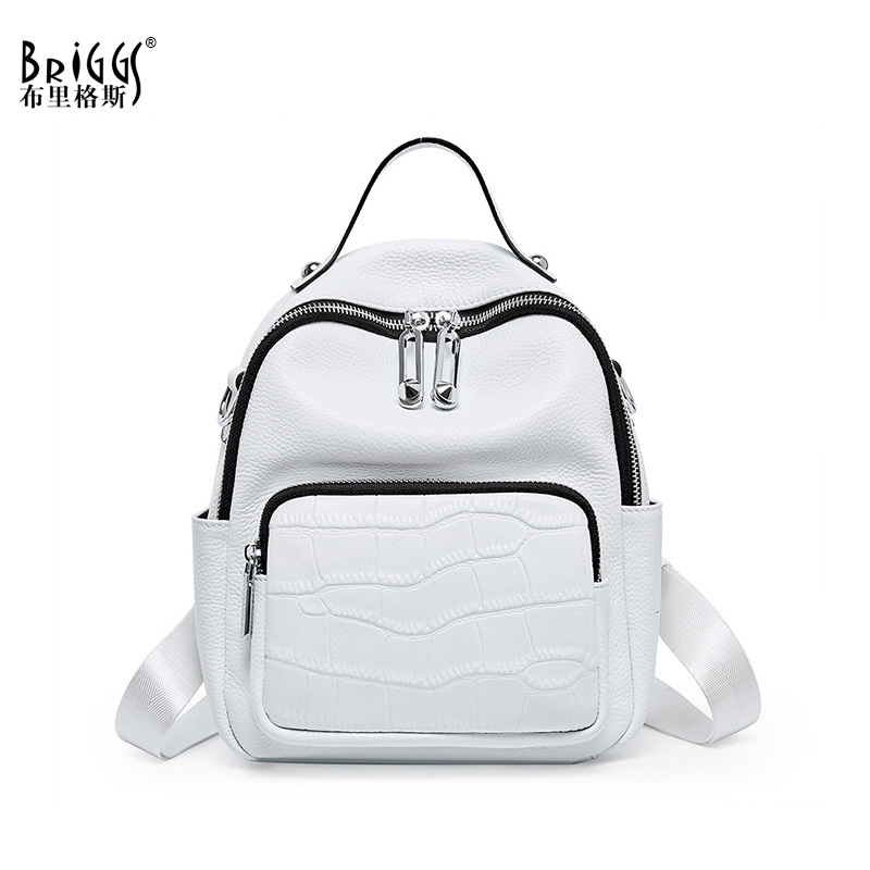 New 2020 Women Backpack Women's Genuine Leather Backpacks School Bag For Teenagers Girls Fashion Backpack Travel Shoulder Bags