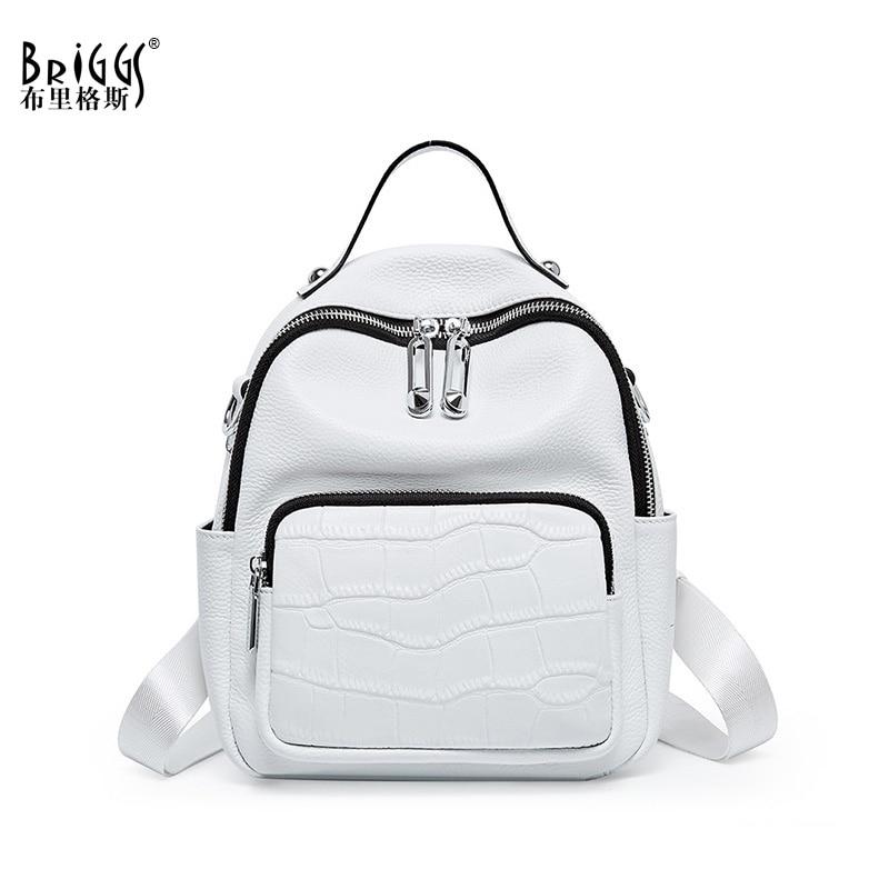 New 2020 Women Backpack Women's Genuine Leather Backpacks School Bag For Teenagers Girls Fashion backpack Travel Shoulder Bags