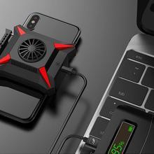 스마트 폰 안드로이드에 대한 휴대 전화 쿨러 화웨이 Xiaomi Sumsung 아이폰 케이스 PUBG 게임 냉각 드롭 온도 라디에이터