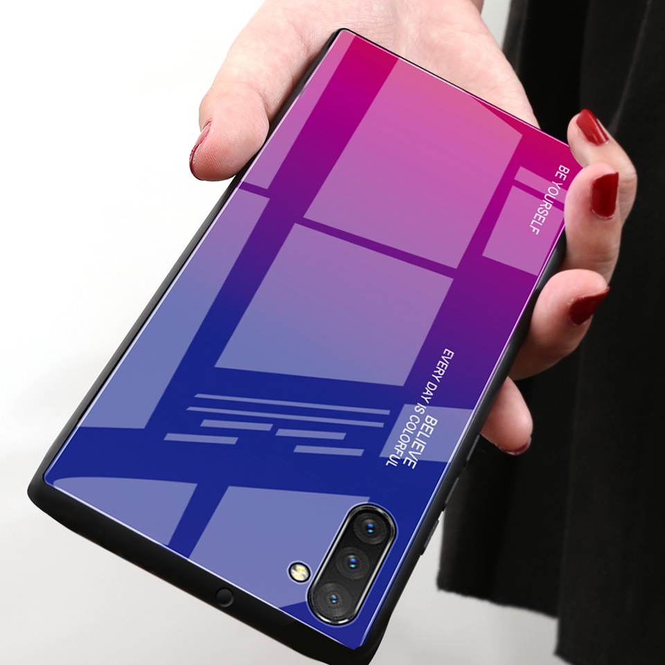 Luxury Glass Case For Samsung Galaxy Note 10 Pro 9 8 Note10 A50 A70 A50s A30s A30 A20 A10 J4 A7 2018 S8 S9 S10 Plus Phone Cover (10)