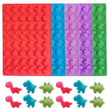 48 Cavity Cute Dinosaur Silicone Gummy Cake Molds Chocolate Mold Ice Cube Tray Candy Foudant Mould Cake Baking Decorating Tools cheap Moulds CE EU LFGB Eco-Friendly