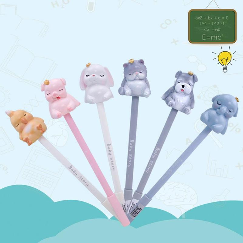 1pc Cute Cat Gel Pens Creative Silicone Neutral PensKawaii Pens For Girls Novelty Pink Writing Stationery Supplies School Q7Q9 thumbnail