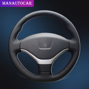 Auto Braid On The Steering Wheel Cover for Peugeot 308 2012 2014 Car styling Interior Accessories Car Steering Wheel Covers|Steering Covers|   -