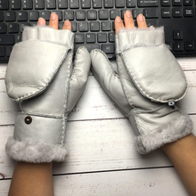 2019 Womens genuine leather gloves touch screen sheepskin autumn and winter fashion female windproof