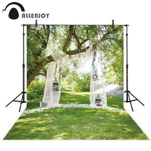Image 2 - Allenjoy mariage photographie toile de fond printemps jardin herbe forêt fleur rideau fond photocall photophone photo studio