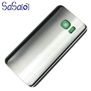 Image 4 - 10 unids/lote de reemplazo de cubierta trasera de cristal para Samsung galaxy S7 G930 / Edge G935, carcasa trasera, funda para puerta de batería con adhesivo