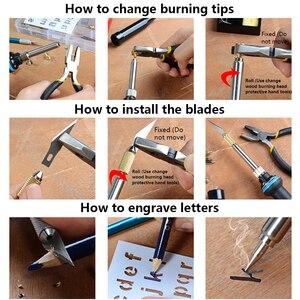 Image 5 - ebakey 110V/220V 60W Soldering Iron Kit Wood Burning Pen Set Electric Soldering Iron Carving Pyrography Tools