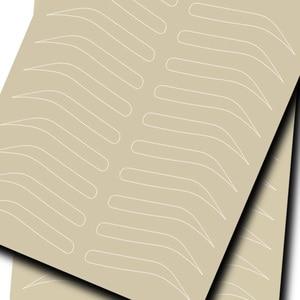 Image 2 - Микроблейдинг бровей тренировочная кожа для бровей Перманентный макияж товары для бровей тренировочная кожа без чернил белая линия двусторонняя
