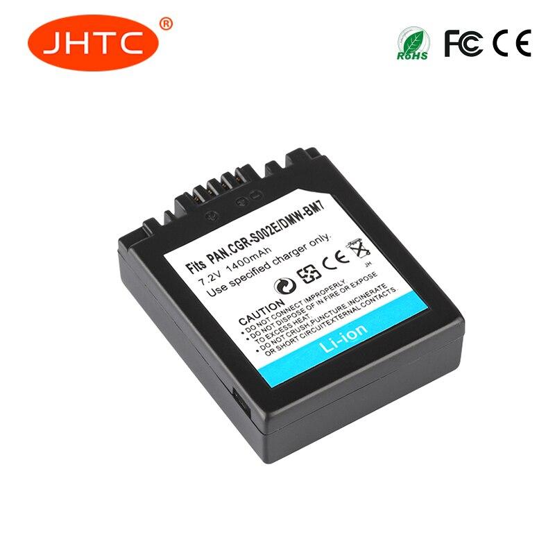 CGAS002 Batterie CGA-S002 Battery For Panasonic DMC-FZ1 DMC-FZ10 DMC-FZ10EG-K DMC-FZ3B Battery For Panasonic S002 1400mAh