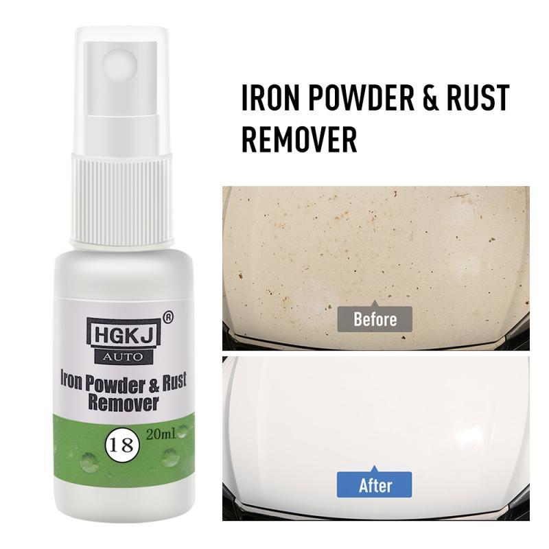 HGKJ Car Paint Wheel Iron Powder Rust Remover Scratches Repair Polishing Car Maintenance Clean Tool Car Body Anti-rust Lubricant