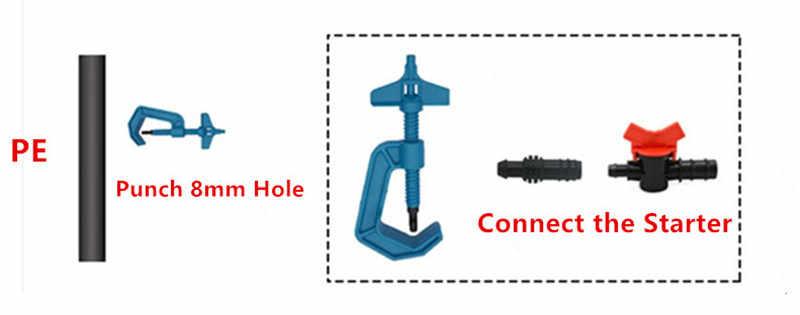IrrigationKing RK0016 Starter Connector 16 mm Grommet x 16 mm Barb Pack of 100