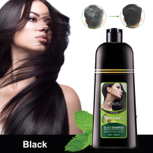 Organic-Shampoo Hair-Dye-Only Black Cover White Hair Gray Fast 500ml for 5-Minutes Noni-Plant-Essence