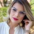 Женские квадратные очки с защитой от сисветильник, модные очки кошачий глаз, оптические очки, очки для компьютерного чтения, UV400