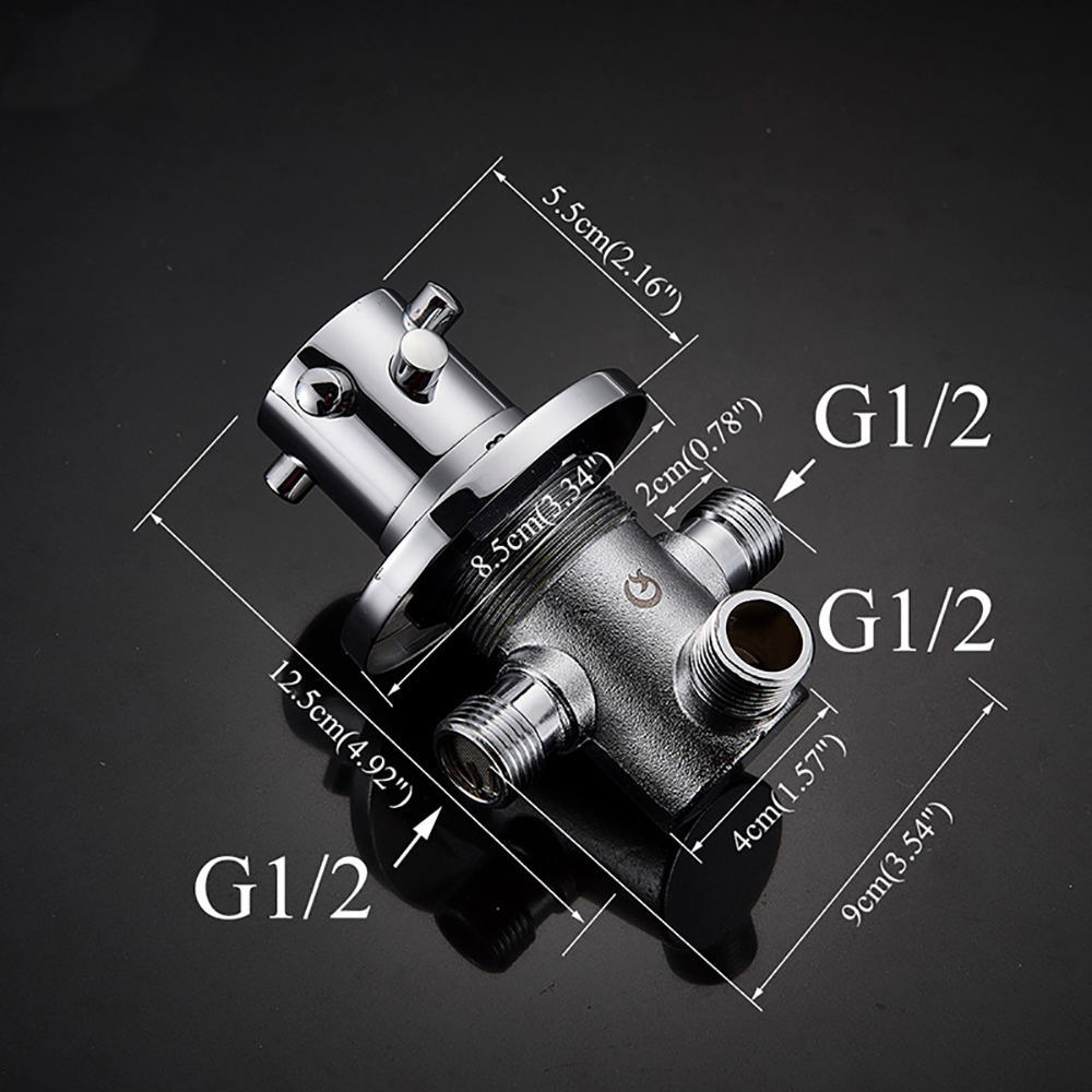 POIQIHY Brass Thermostatic Mixer for Shower System Water Temperature Control Faucet Control Valve Bathroom Faucet Valve 4