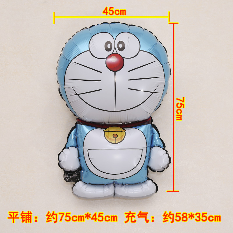 Genuine Standing Blue cat Shape Aluminum Foil Balloon Children\'s Birthday Decoration Wedding Arrangement-3