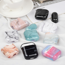Luxury Marble Case For Airpods Hard PC Cover 2 Protective Charging Box Air pods 1 Coque Funda