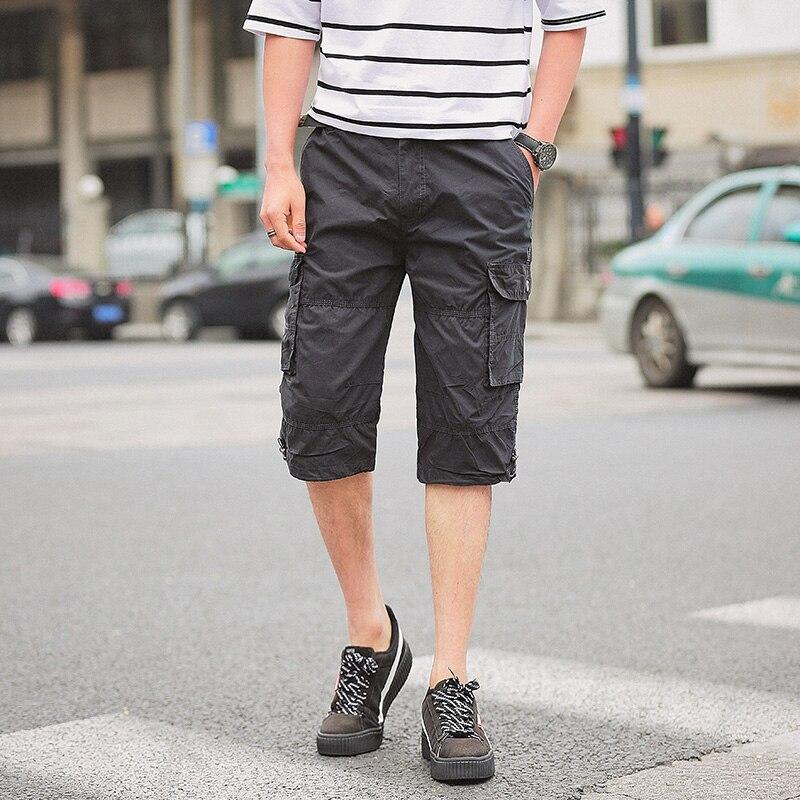 Nice Pop Summer Men Soldiers Men Shorts Tactical Army Cotton Shorts Men Loose Work VogueShorts Plus Size M-2XL