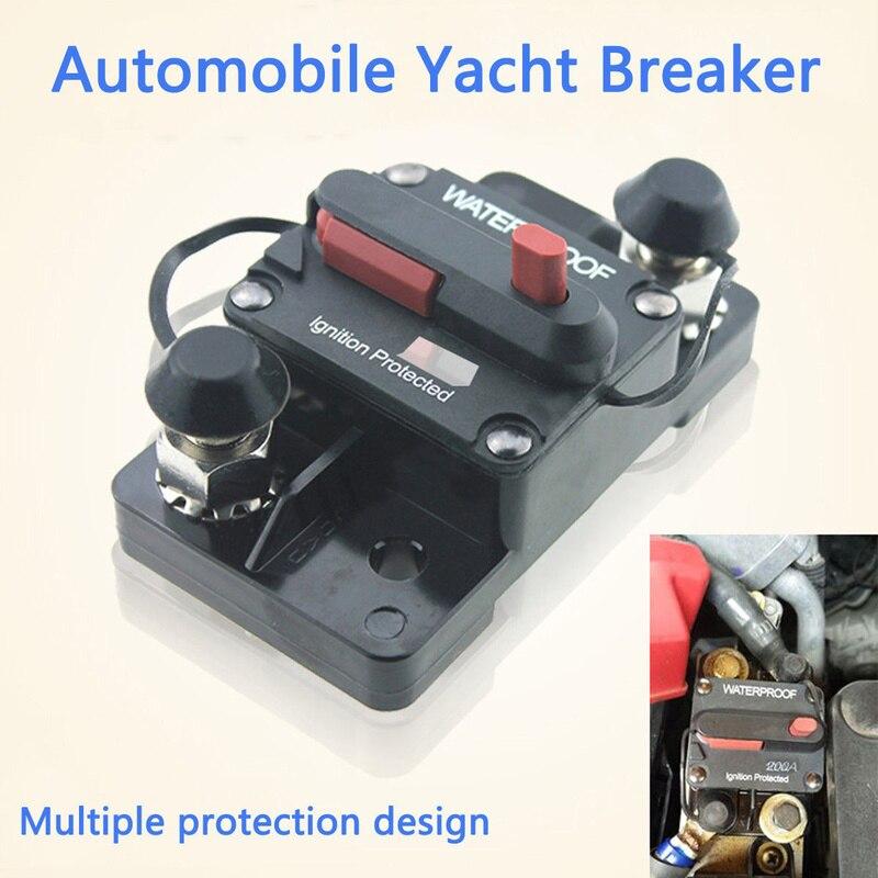 D DOLITY DC 12V 24V Car Audio Inline Circuit Breaker Fuse Manual Reset Switch 50A//150A//200A//250A 200A