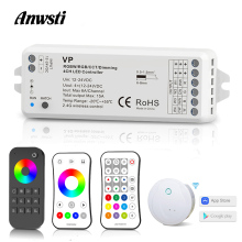 цена на RGBW LED Strip Controller 12V 24V DC RF 2.4G Wireless Remote Control Smart Wifi Controller for 12 Volt RGB RGBW LED Strip Light