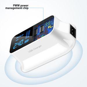 Image 4 - LCD תצוגה דיגיטלית Chargeur 8 יציאות USB עבור Xiaomi Huawei סמסונג iPhone אנדרואיד Adaptateur טלפון נייד Chargeur XEDAIN