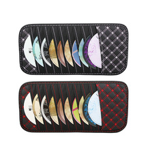 Car Notes Pouch CD Receive Bag DVD Disk Card Car Sun Visor Storage Bag Visor Case Folder Pocket Organizer edcgear car sun visor hanging zipped storage bag pouch black