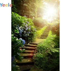 Image 5 - Yeele escaleras selva bosque árboles primavera paisaje fotografía fondos fotográficos personalizados para estudio fotográfico