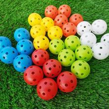 12шт гольф мячи крытый открытый свистящий воздушный поток полый гольф практика тренировка мячи спорт гольф аксессуары для мужчин женщин детей