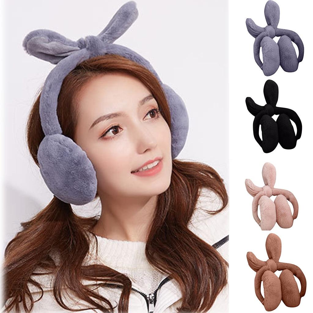 Unisex Winter Cute Ear Fur Headphones Warm Earmuffs Foldable меховые теплые наушники Oorwarmers Ear Warmers #4