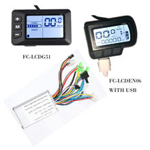 EBike Controller 48V LCD E Bike Display Speed Controller For Brushless Motors 24V 36V 250W Bicycle Conversion Kits ODO TM(China)